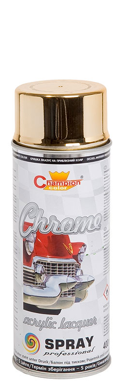 CHAMPION SPRAY Super Chrom gold