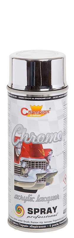 CHAMPION  SPRAY Super Chrom srebrny